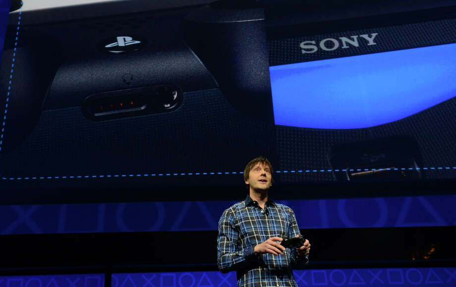 Video game designer Mark Cerny talks as Sony introduces the PlayStation 4 at a news conference February 20, 2013 in New York.  AFP PHOTO/EMMANUEL DUNANDEMMANUEL DUNAND/AFP/Getty Images Photo: EMMANUEL DUNAND, AFP/Getty Images / AFP