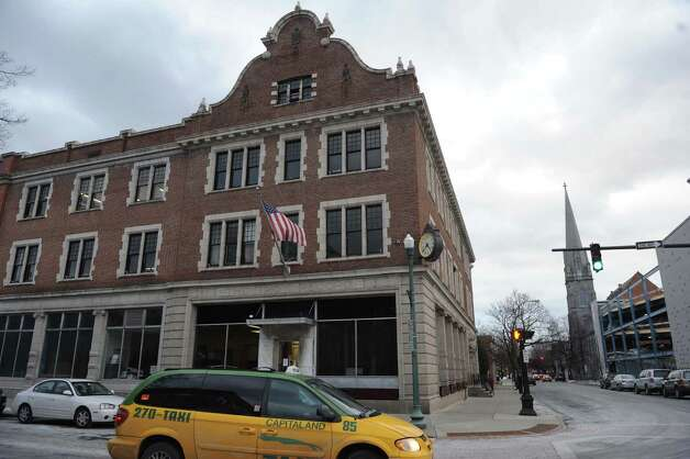 The Troy Record building at 501 Broadway on Wednesday Feb. 20, 2013 in Troy, N.Y. (Michael P. Farrell/Times Union) Photo: Michael P. Farrell