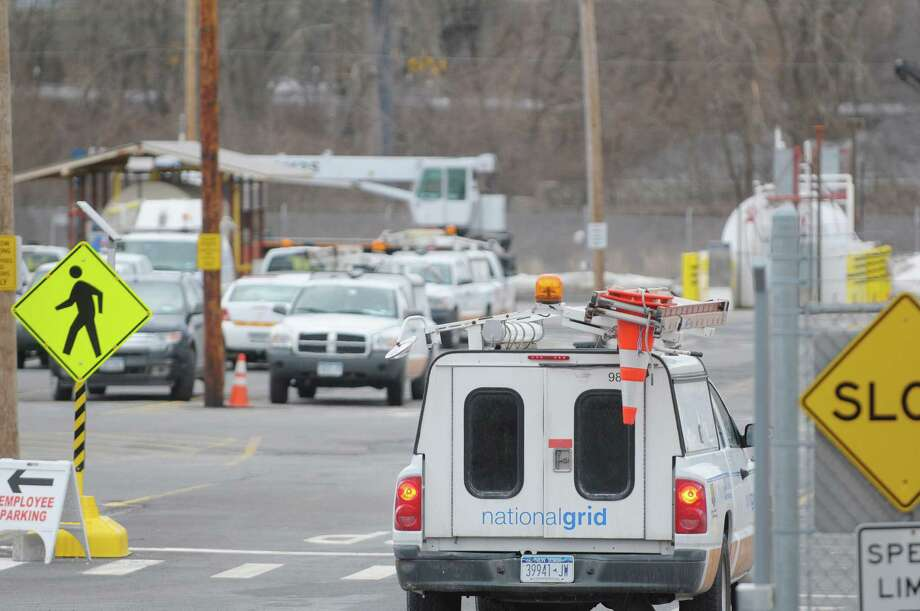 A National Grid vehicle is driven into the  headquarters on Broadway on Wednesday, Feb. 20, 2013 in Albany, NY.   (Paul Buckowski / Times Union) Photo: Paul Buckowski