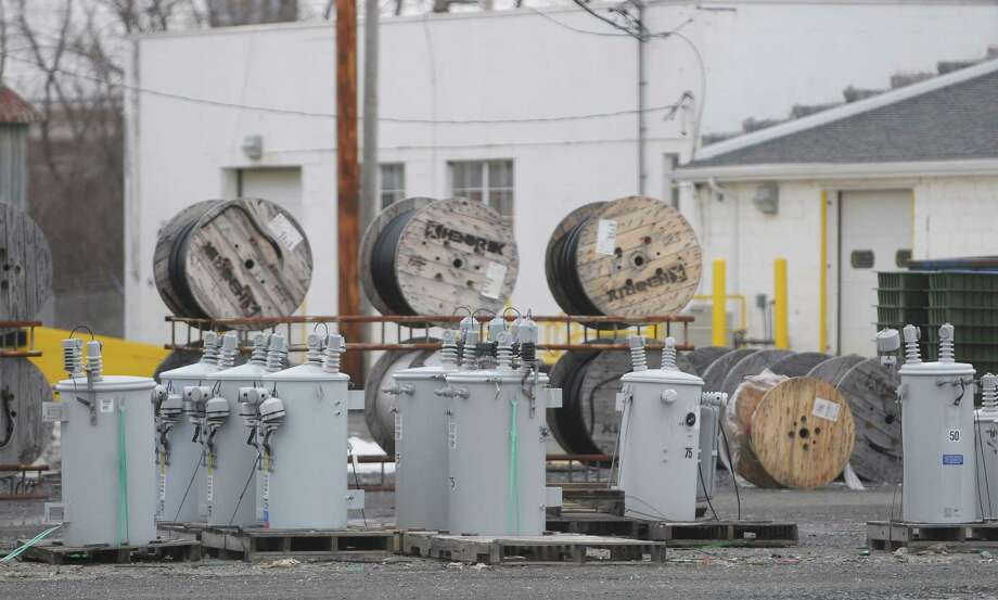 A view of some eletrical equipment at the National Grid headquarters on Broadway  on Wednesday, Feb. 20, 2013 in Albany, NY.   (Paul Buckowski / Times Union) Photo: Paul Buckowski