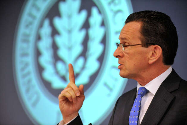 Gov. Dannel P. Malloy speaks during the Next Generation Connecticut press conference where he and University of Connecticut President Susan Herbst announced a 10-year initiative to expand the campus and the university's offerings in science, technology, engineering and math while at the University of Connecticut's Stamford location on Wednesday, Feb. 20, 2013. Part of the plan includes building nearby housing for students. Photo: Jason Rearick / The Advocate