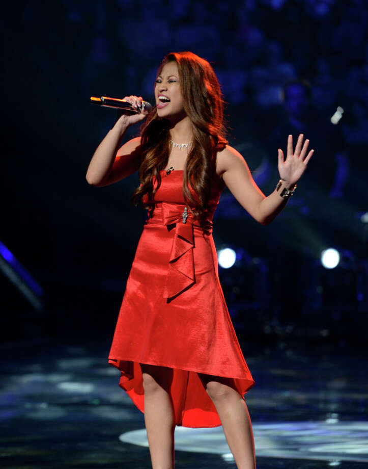 AMERICAN IDOL: Adriana Latonio performs in the Sudden Death Round of AMERICAN IDOL airing Wednesday, Feb. 20 (8:00-10:00PM ET/PT) on FOX. CR: Michael Becker / FOX. Copyright / FOX.