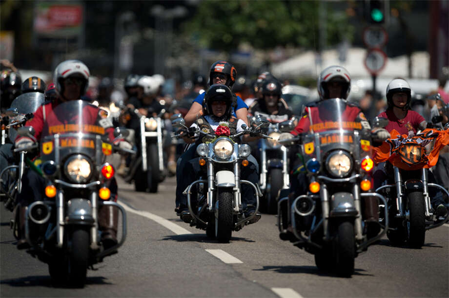 "Police say some motorcycle exhaust systems are illegal, though specific statistics on how often Seattle motorcycle riders get cited for them were not available. Seattle Police spokesman Mark Jamieson referenced section 11.57.280 of the Seattle Municipal Code, which states discusses nose of a modified exhaust system. ""It doesn't have to be modified,"" Jamieson said of a motorcycle's exhaust system. ""If someone is sitting there with a stock motorcycle and its really loud, they would be cited for excessive noise."" People on motorbikes violating the city law can get a $124 ticket. But how often are those tickets issued? ""It really depends on how busy the night is,"" Jamieson said. ""If there are shootings and robberies and assaults, we're not going to be citing people for excessive noise on vehicles because we're too busy."" Calls to police are prioritized depending on the severity of the call. But police say all 911 calls get some kind of response. According to section 11.84.080 of the code, all motor vehicles must be equipped with a muffler in good working order at all times and in constant operation. (Getty Images)"