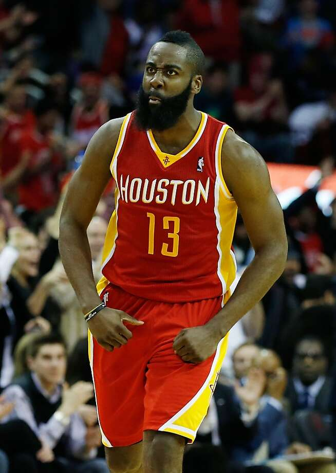 James Harden's career-high 46 points helped beat the team that traded him. Photo: Scott Halleran, Getty Images