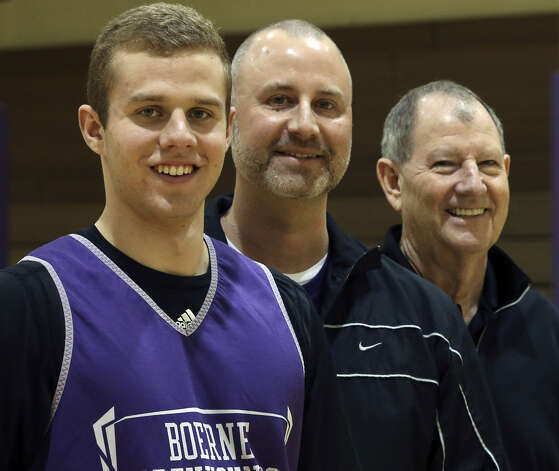 Boerne point guard Griffin McHone, his father Kimble and grandfather Morris have a strong basketball lineage. Photo: Tom Reel / San Antonio Express-News