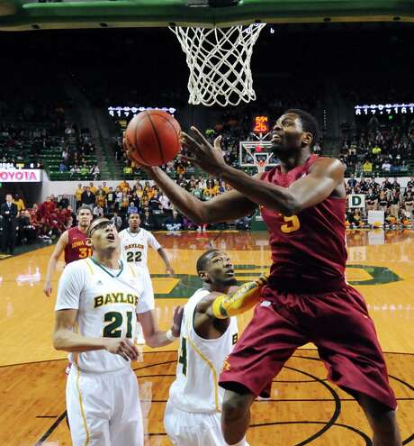 Iowa State's Melvin Ejim, who had 20 points and 12 rebounds, drives to the basket during the first half against Baylor. Photo: Rod Aydelotte / Waco Tribune-Herald
