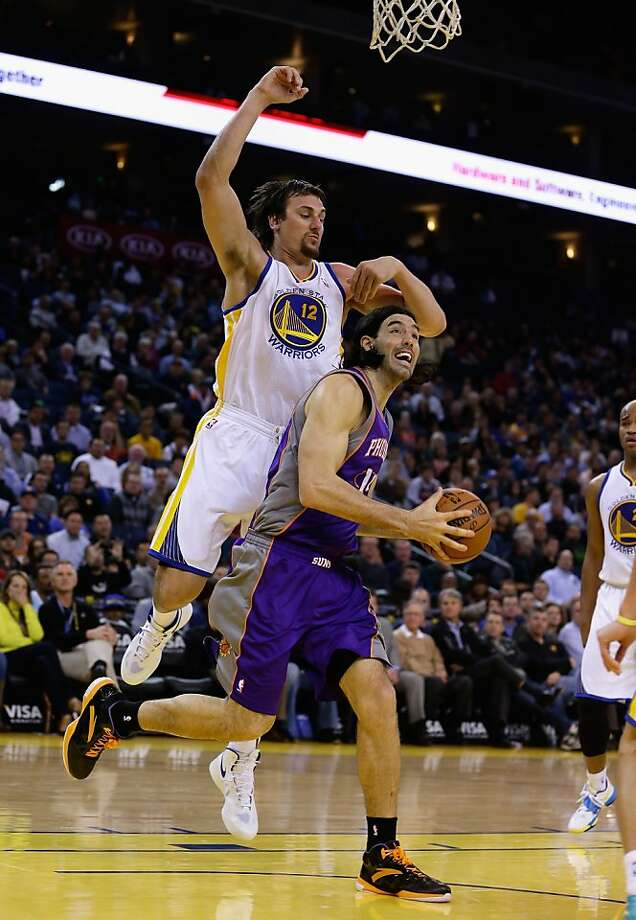 Andrew Bogut, trying to defend Luis Scola, may just need more time to shake off the rust. Photo: Ezra Shaw, Getty Images
