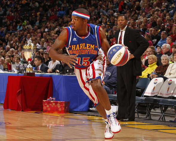 "Anthony ""Buckets"" Blakes and the rest of his Harlem Globetrotters teammates will be making a stop in Bridgeport, Conn., Friday, Feb. 22, 2013, at the Webster Bank Arena for a 7 p.m. game. For more information, or to purchase tickets, call 800-745-3000 or visit http://www.ticketmaster.com. Photo: Contributed Photo"