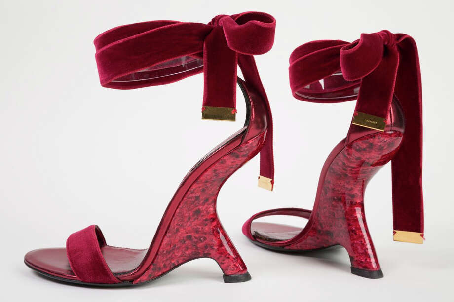 "This undated photo provided by the Fashion Institute of Technology shows a pair of shoes designed by Tom Ford in 2012. The shoes are displayed at the ""Shoe Obsession"" exhibit at The Museum at the Fashion Institute of Technology Museum in New York. The exhibition, showing off 153 specimens, runs through April 13. Photo: AP / Fashion Institute of Technology"