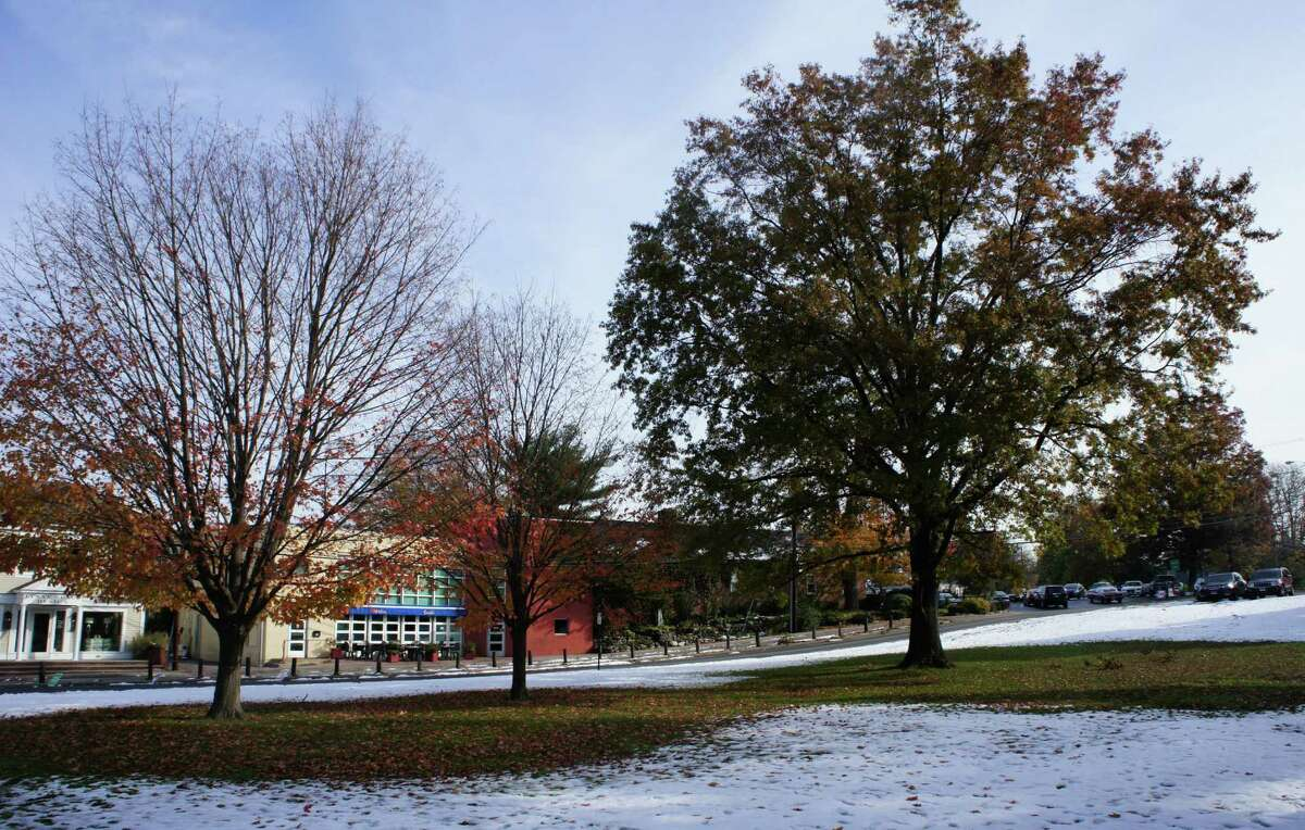 A view of Jesup Green in downtown Westport, where the Westport Arts Center is proposing to build a new approximately 10,000-square-foot center.