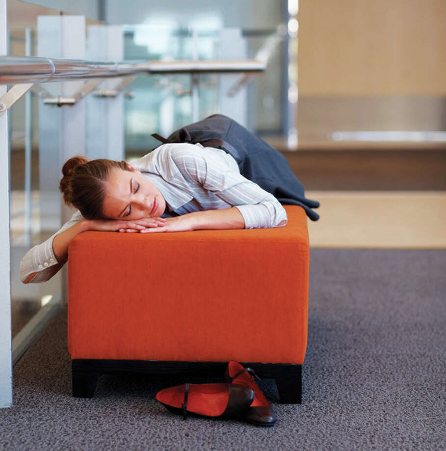 Sleeping at work: You might feel drowsy or tired, but you should never sleep at work. Your employer wouldn't be happy to find you catching some z's while on the clock.