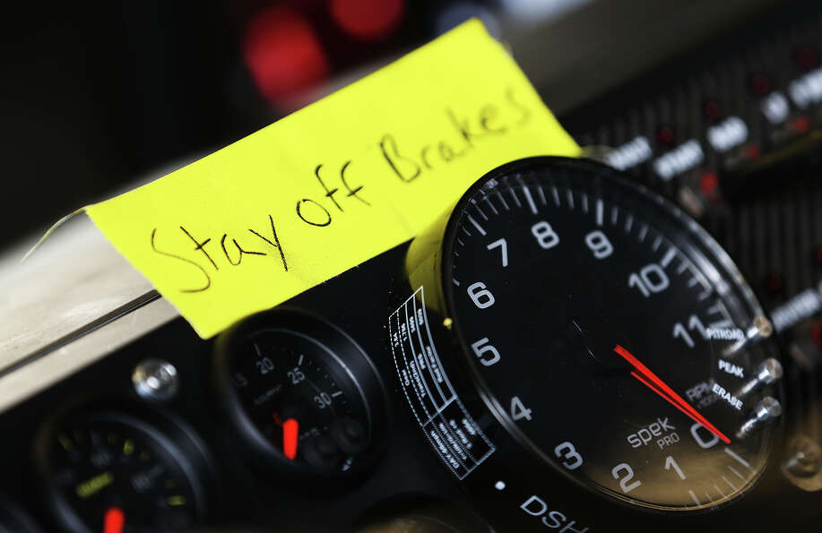 Detail of an instrument panel during practice for the NASCAR Sprint Cup Series Daytona 500 at Dayton