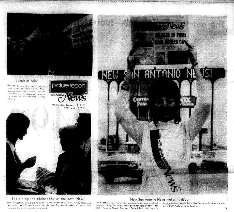 Photos from the News' new picture report on January 17, 1973, regarding its new design.