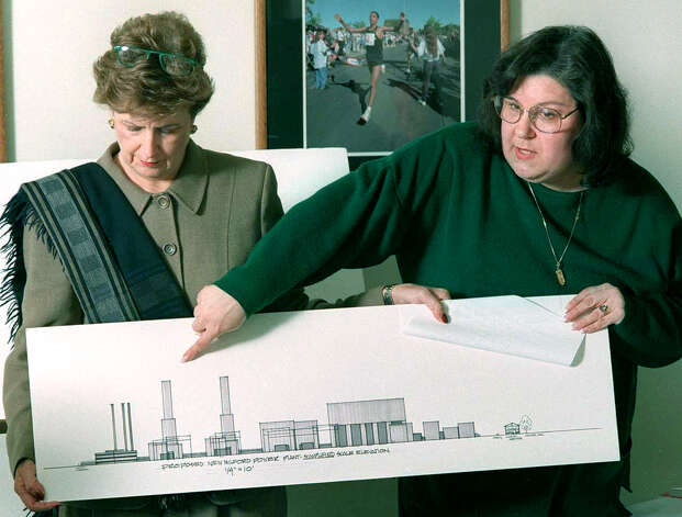 Julie Bailey, left, and former New Milford mayor Liba Fuhrman of New Milford are among those who successfuly oppose the proposed Sempra power plant project in 1999. Photo: Michael Duffy