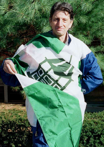 "The efforts of acclaimed vexillologist Dr. Peter Orenski, a.k.a ""The Flagman,"" inspire the town of New Milford to have its own flag. Photo: Deborah Rose/Spectrum"