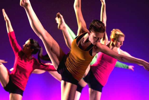 "FineLine Theatre Arts' ""Spring Dance Fest"" in June of 2011 offers a lively and colorful  showcase for dance talents at the five-year-old New Milford school. The shows featured  skilled dancers such as, above, Tiffany Billings, foreground, Carlie Silva, left, and Stephanie Madeux, all of New Milford. Tiffany took center stage later in the show as the Snow Queen in ""Swan Lake"" and, in September of that year, took her talents to the perform with the world-famous Rockettes. Photo: Trish Haldin"