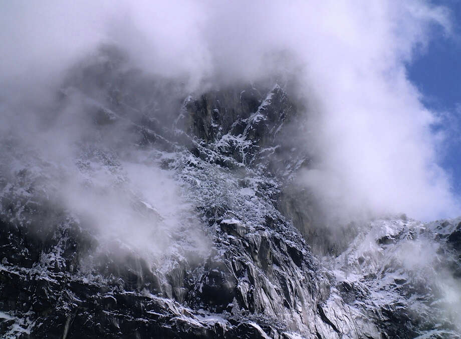 Timeless shot of fog, ice and snow looking into the world's cathedral Photo: Copyright 2013 Lee DeCovnick. Used With Permission.