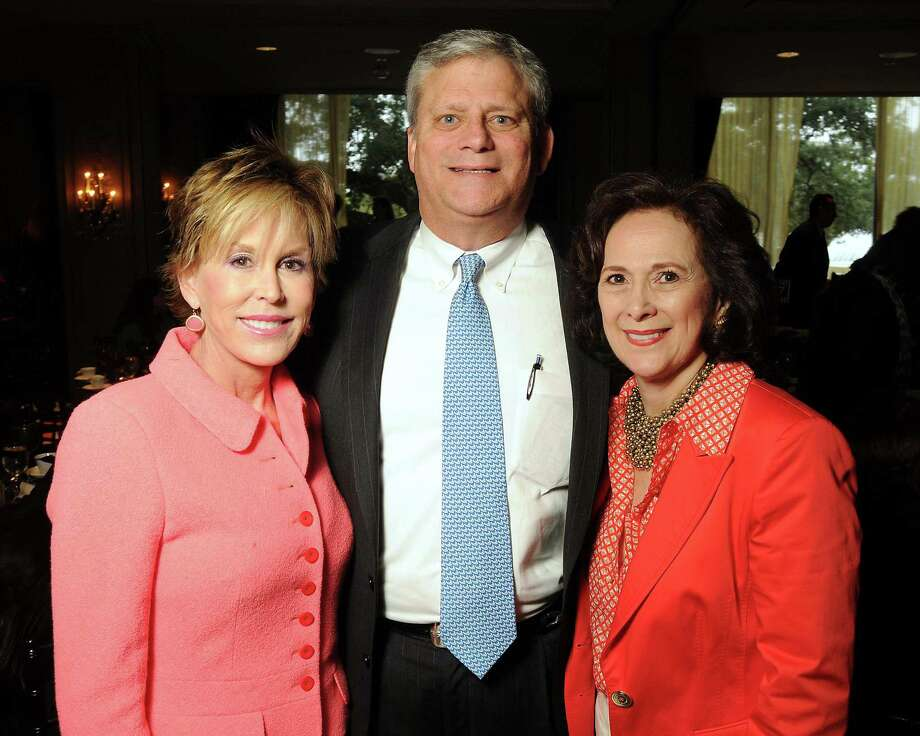 From left: Nancy and Cardon Gerner with Franelle Rogers at the On The Move Luncheon at the Hotel ZaZa Wednesday February 20,2013.(Dave Rossman/For the Chronicle) Photo: Dave Rossman, Freelance / freelance