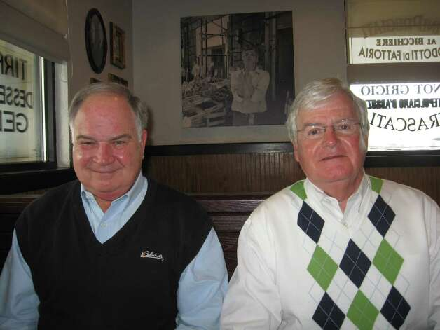 A.J. Maloney, left, executive vice president of Coburn Supply Co.; and company president Don Maloney accept the Spindletop Award bestowed by the Greater Beaumont Chamber of Commerce on Thursday for good corporate citizenship, a recognition that began in 1999. Dan Wallach/The Enterprise Photo: Dan Wallach