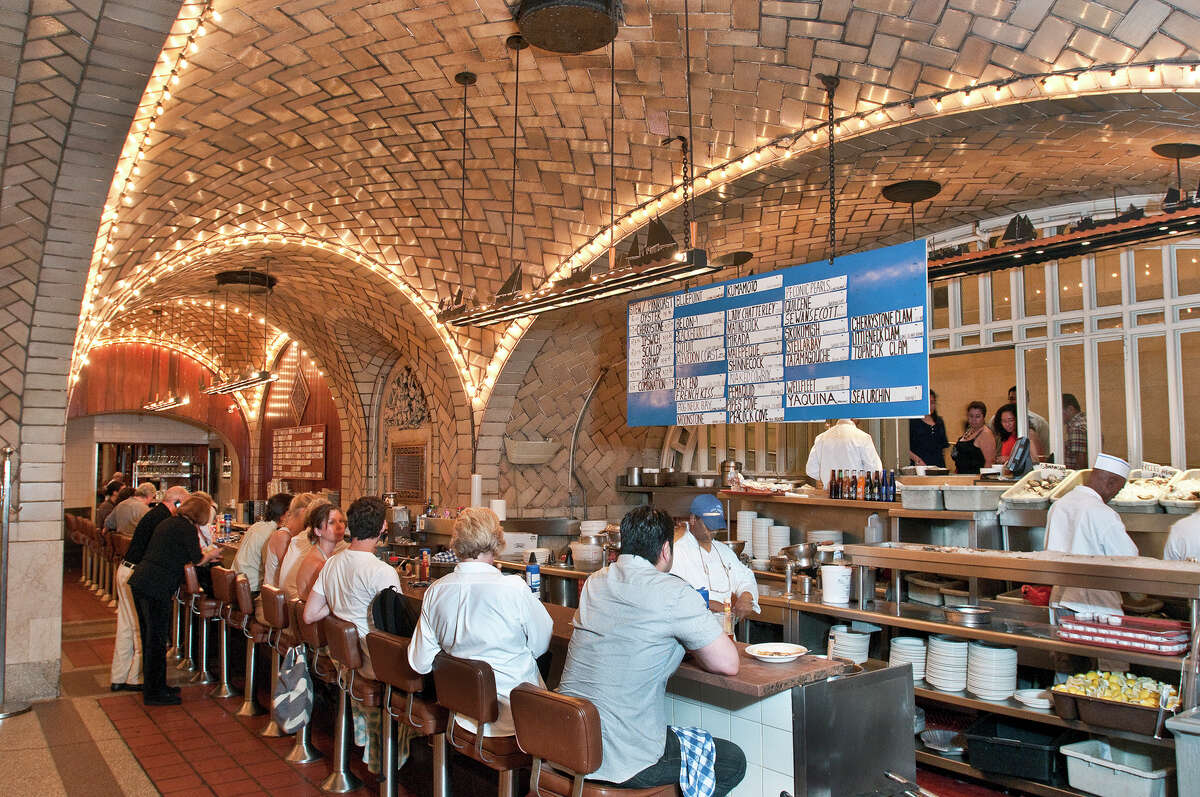 A view of the oyster bar, one of several dining areas within Grand Central Oyster Bar & Restaurant in Grand Central Terminal.