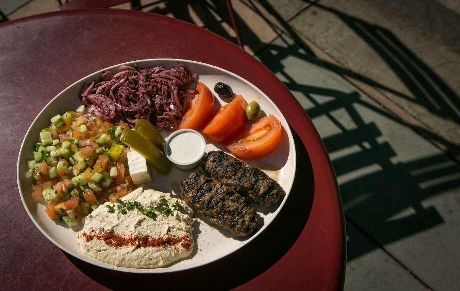 The kebab platter.