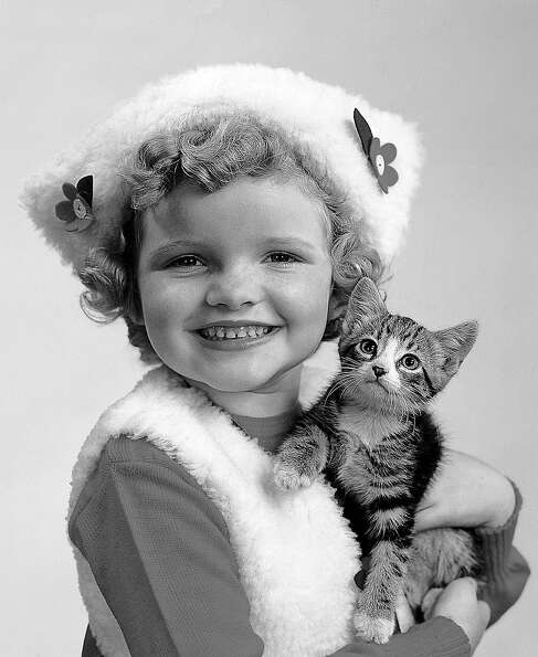 Girl and cat, 1944.