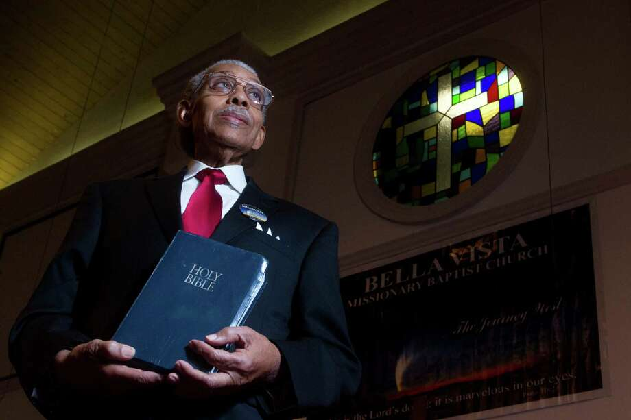 Called to ministry at 17, the Rev. Calvin J. Abraham will continue as pastor emeritus at Bella Vista Missionary Baptist Church. Photo: J. Patric Schneider, Freelance / © 2013 Houston Chronicle