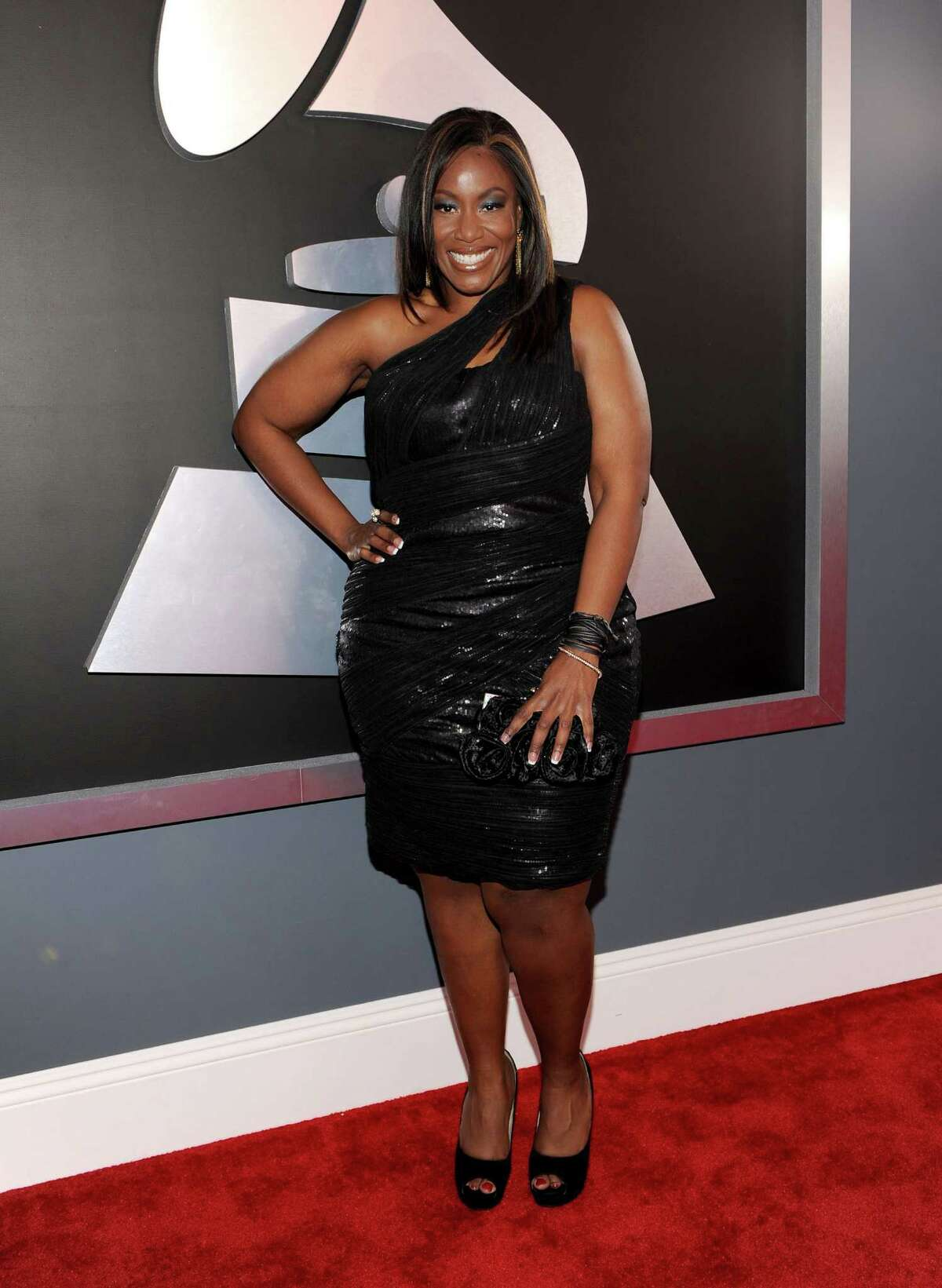 LOS ANGELES, CA - FEBRUARY 12: Singer Mandisa arrives at the 54th Annual GRAMMY Awards held at Staples Center on February 12, 2012 in Los Angeles, California. (Photo by Larry Busacca/Getty Images For The Recording Academy)