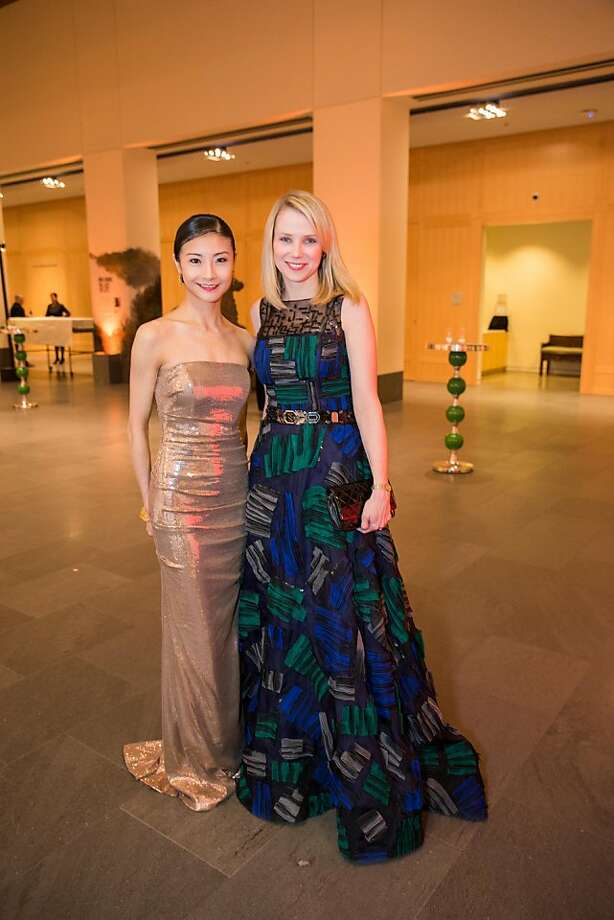 Yuan Yuan Tan and Marissa Mayer at the Asian Art Museum's opening gala for the Terracotta Warriors exhibit. Photo: Drew Altizer Photography