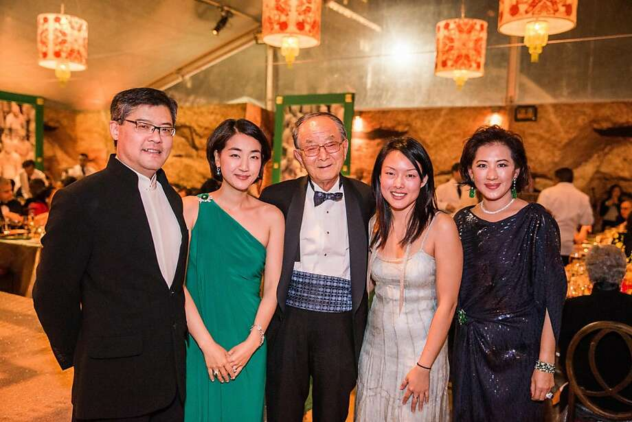 Jay Xu, Jamie Chen, Chong-Moon Lee, Superviser Jane Kim and Goretti Lui at the opening gala for the Asian Art Museum's Terracotta Warrior exhibition on February 20, 2013. Photo: Drew Altizer Photography