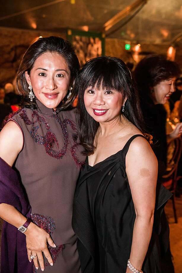 Rosina Sun and Rebecca-sen Chan at the opening gala for the Asian Art Museum's Terracotta Warrior exhibition on February 20, 2013. Photo: Drew Altizer Photography