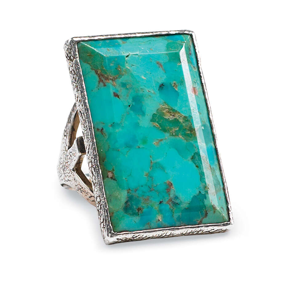 turquoise ring by Pat Dahnke, designsbypat.com, $295 Photo: --