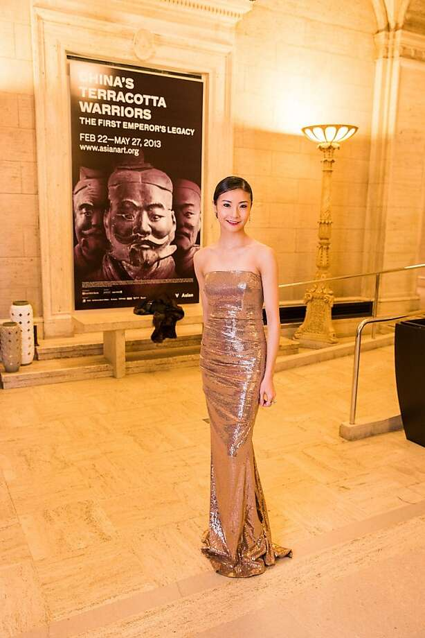 San Francisco Ballet principal Yuan Yuan Tan at the opening gala for the Asian Art Museum's Terracotta Warrior exhibition on February 20, 2013. Photo: Drew Altizer Photography