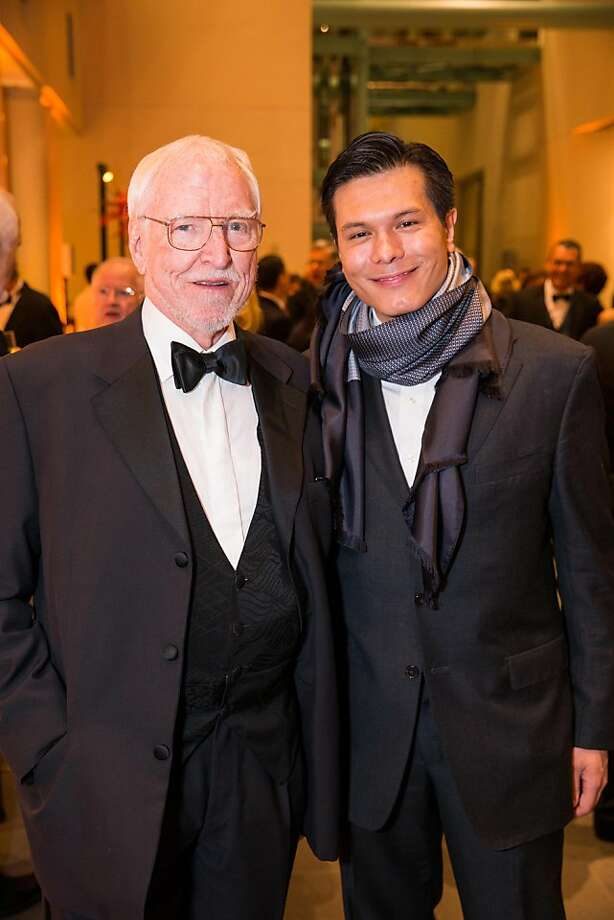 Jim Hormell and Michael Nguyen at the opening gala for the Asian Art Museum's Terracotta Warrior exhibition on February 20, 2013. Photo: Drew Altizer Photography