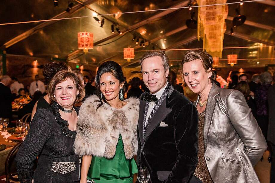 Jennifer Raiser, Komal Shah, Jean-Charles Boisset and Gina Boisset at the opening gala for the Asian Art Museum's Terracotta Warrior exhibition on February 20, 2013. Photo: Drew Altizer Photography