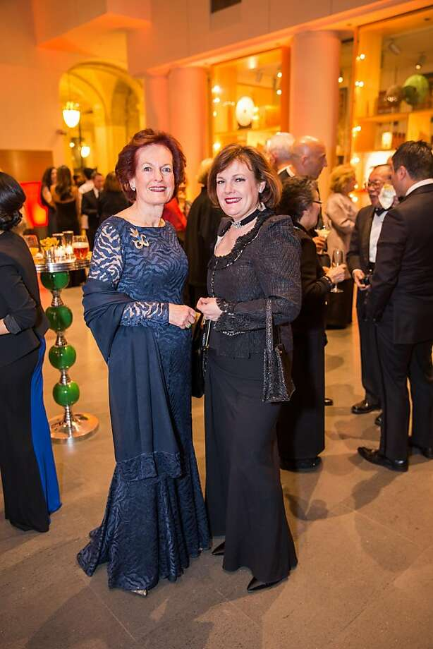 Helen Hilton Raiser and Jennifer Raiser at the opening gala for the Asian Art Museum's Terracotta Warrior exhibition on February 20, 2013. Photo: Drew Altizer Photography, Drew Altizer