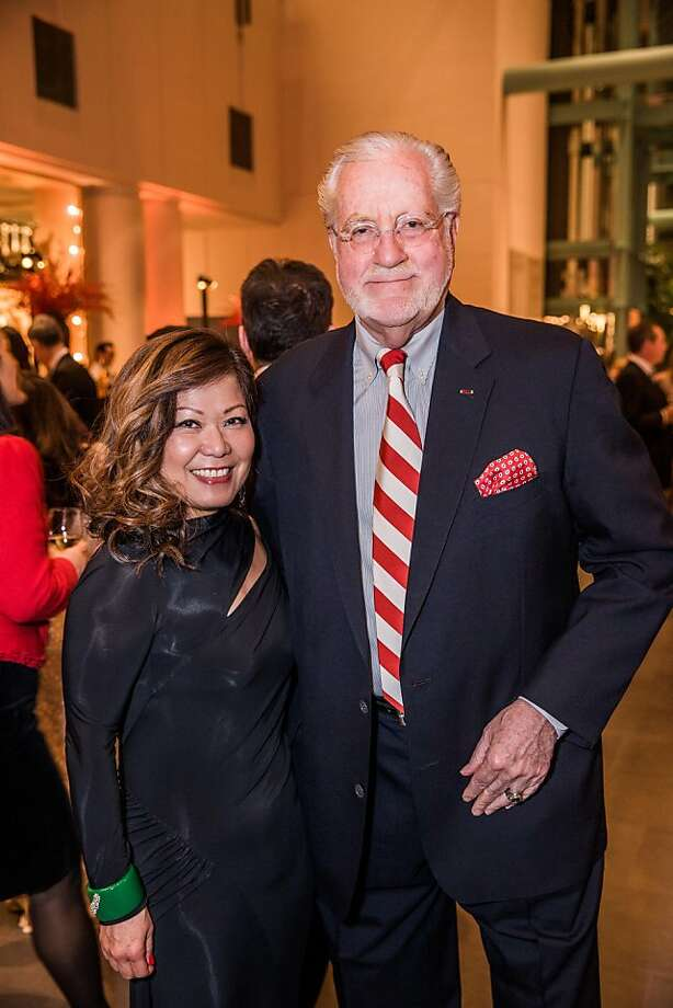 Nanci Mishimura and Joe Cotchett at the opening gala for the Asian Art Museum's Terracotta Warrior exhibition on February 20, 2013. Photo: Drew Altizer Photography, Drew Altizer