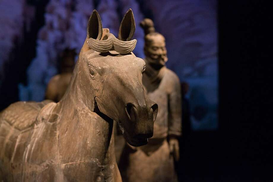 Part of the China's Terracotta Warriors: The First Emperor's Legacy exhibit. Photo: Drew Altizer Photography