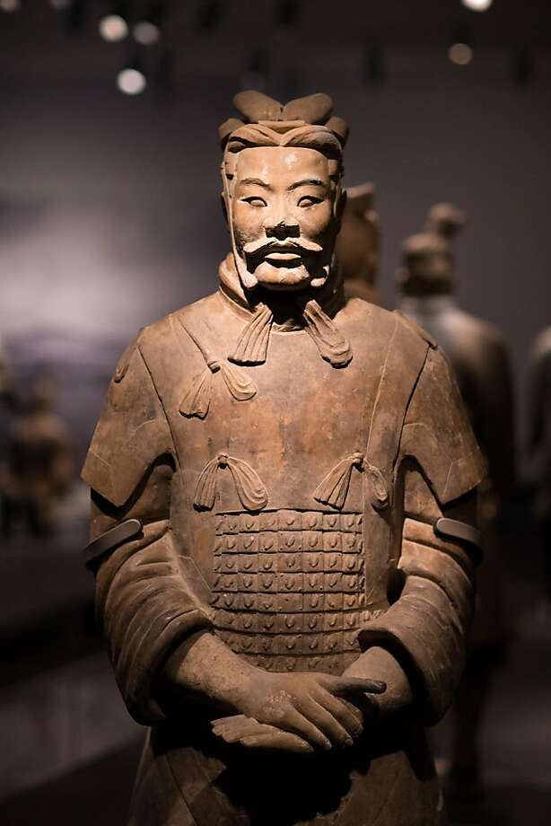 A piece from the China's Terracotta Warriors: The First Emperor's Legacy exhibit. Photo: Drew Altizer Photography