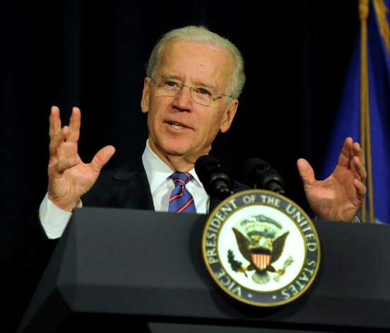 Vice President Joe Biden speaks at a conference on gun violence at Western Connecticut State University in Danbury, Conn., Thursday, Feb. 21, 2013. Photo: Carol Kaliff / The News-Times