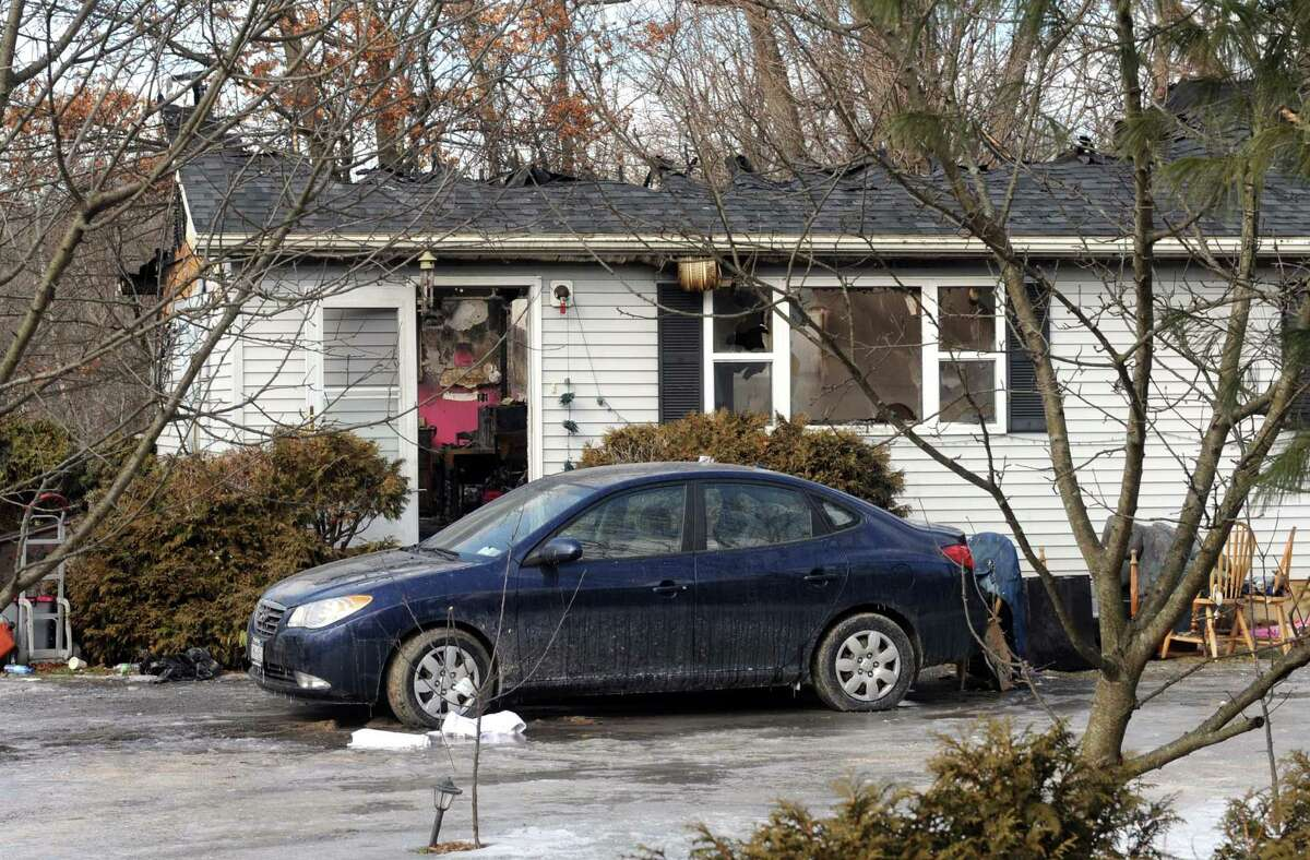 Scene of fatal fire at 170 Glenmont Road on Thursday Feb. 21, 2013 in Glenmont, N.Y. .(Michael P. Farrell/Times Union)