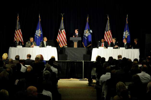 U.S. Sen. Richard Blumenthal leads a panel discussion at a conference for gun control at Western Connecticut State University Thursday, Feb. 21, 2013. Photo: Carol Kaliff / The News-Times