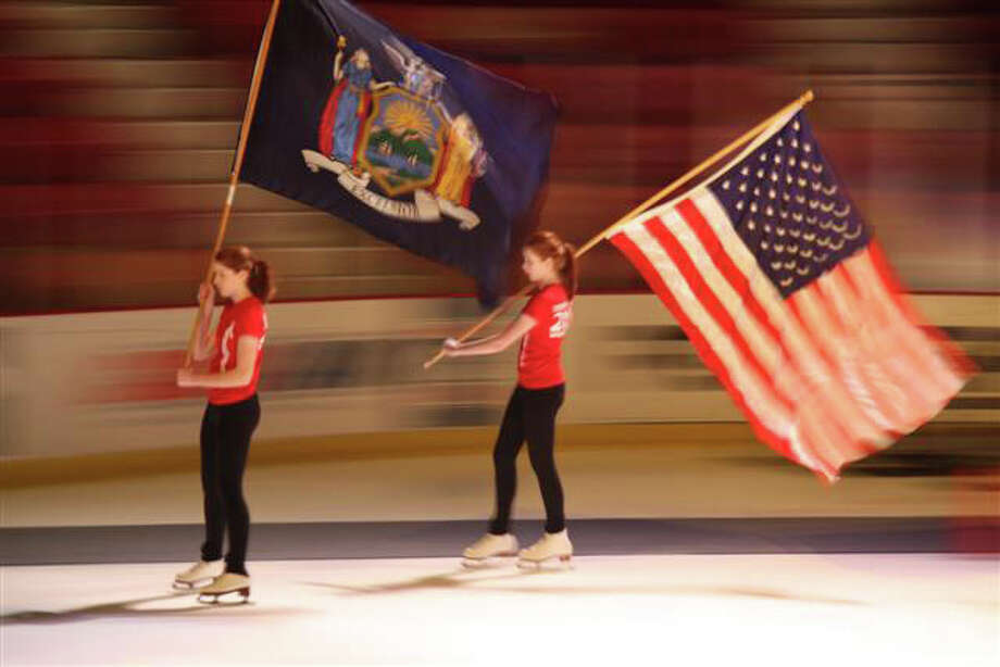 The Houstonettes practicing for their performance at the Empire State Games Opening ceremonies.