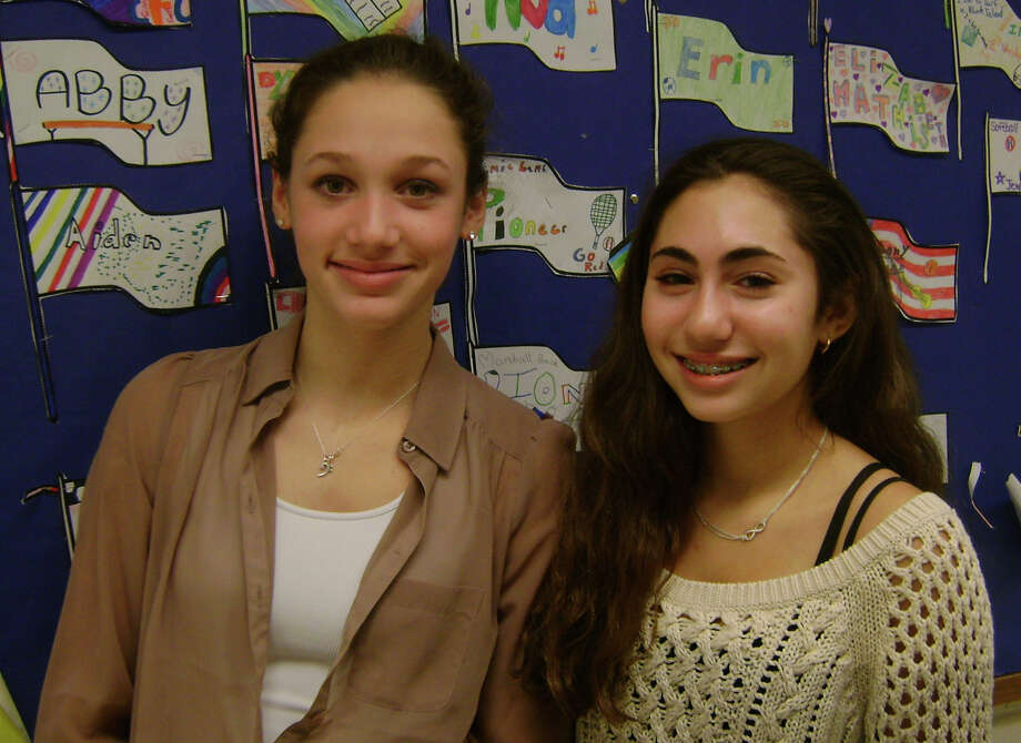 "A video titled ""Language Breaks Barriers"" by Coleytown Middle School eighth-graders Emily Schusssheim, left, and Renee Weisz is a finalist in the American Council on the Teaching of Foreign Languages contest, held in honor of Discover Languages month. Photo: Contributed Photo"