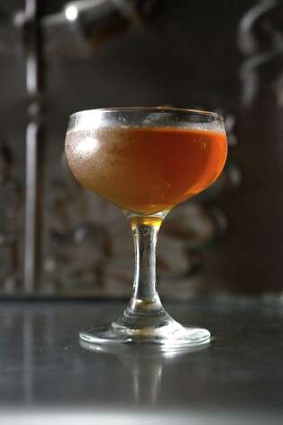 The Tobin Hill is a cocktail made with vinegar that can be used to add acidity to cocktails without citrus. Photo: Helen L. Montoya / San Antonio Express-News