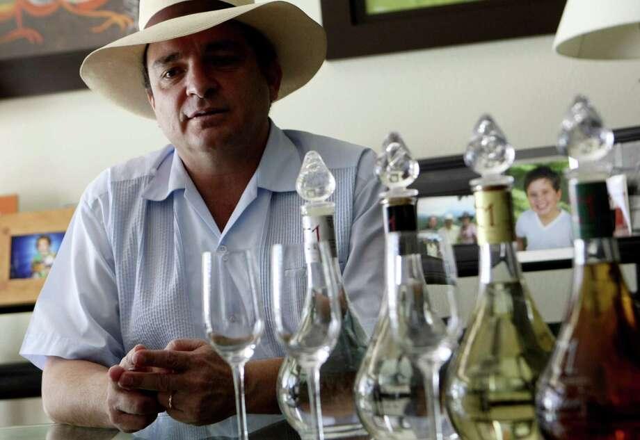 Germán González is a tequila distiller with t1 tequila uno. He'll be part of UTSA's Great Conversation! fundraising dinner. Photo: Helen L. Montoya / San Antonio Express-News