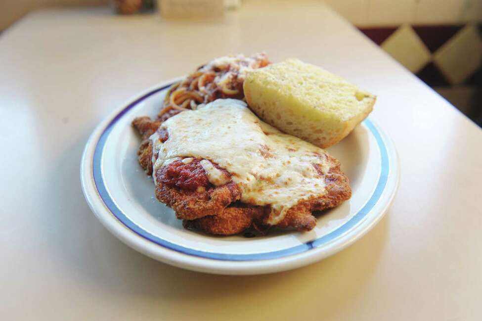 A view of the chicken parmesan dish at Sciortino's on Monday, Feb. 18, 2013 in Albany, NY. (Paul Buckowski / Times Union)