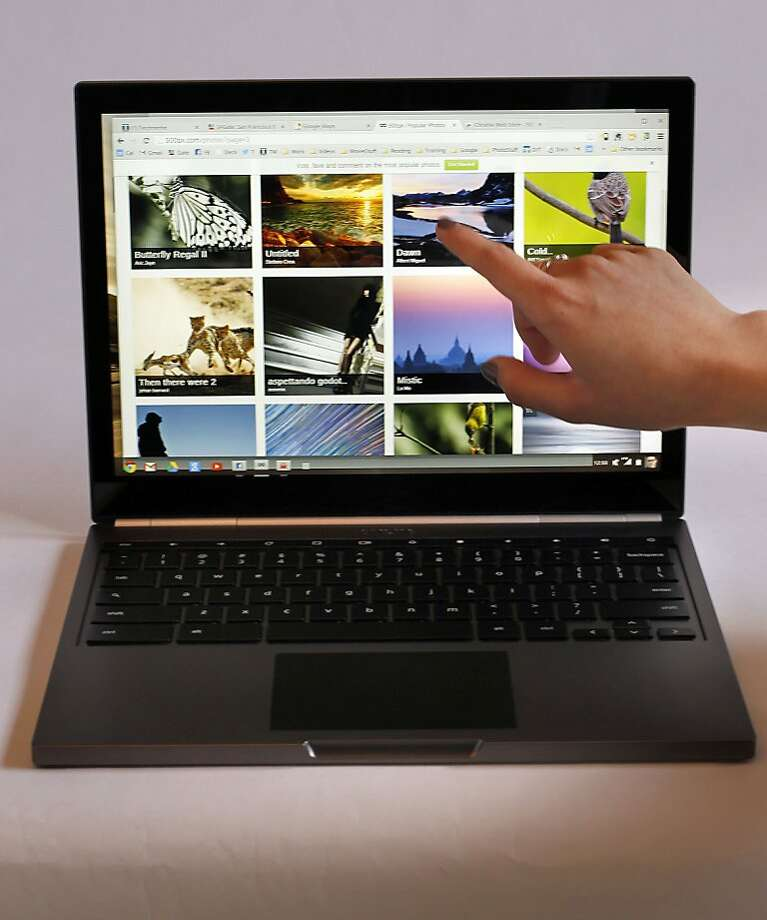 The Chromebook Pixel has a high-resolution touch-screen and uses the cloud-based Google operating system. Photo: Michael Macor, The Chronicle