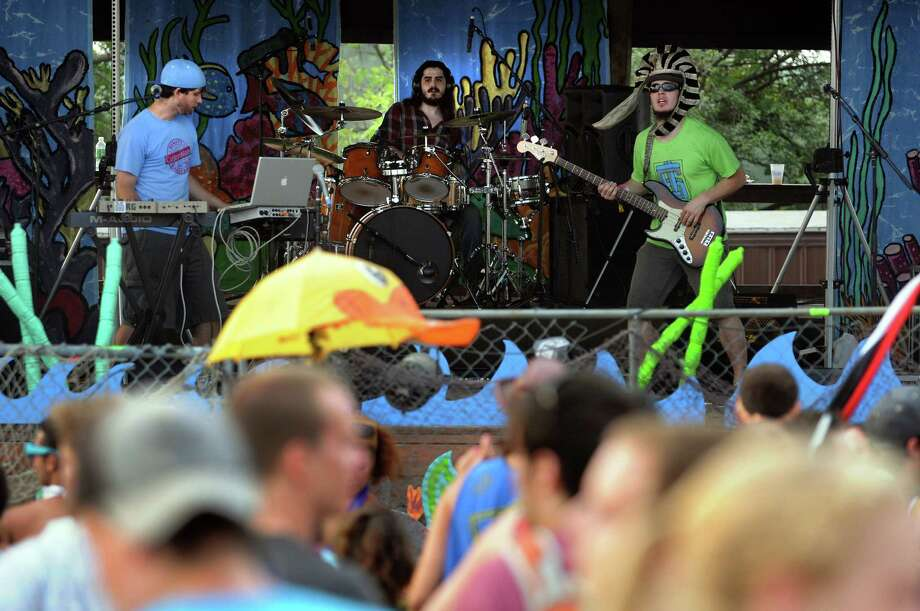Wobblesauce performs on the new talent stage at Camp Bisco on Friday, July 13, 2012, at Indian Lookout Country Club in Mariaville, N.Y. (Cindy Schultz / Times Union) Photo: Cindy Schultz / 00018447A