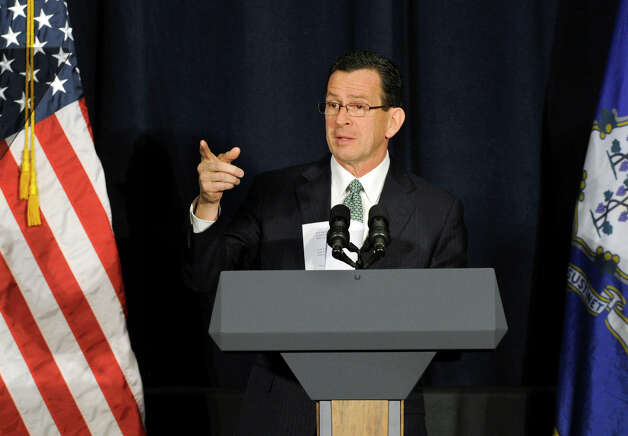 Gov. Dannel Malloy speaks at a conference on gun violence is held at Western Connecticut State University, in Danbury, Conn. Thursday, Feb. 21, 2013 Photo: Carol Kaliff / The News-Times
